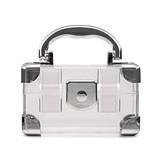 Weddingstar Mini Travel Suitcase Favor Boxes - Silver (Set of 2)