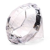 Weddingstar Personalizable Clear Diamond-Shaped Favor Boxes (Set of 4)