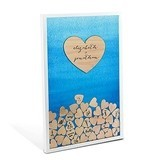 Personalized Aqueous Wedding Drop Box Guest Book w/ Hearts (6 Colors)