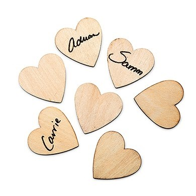 Weddingstar Small Wooden Craft Hearts (Package of 50)