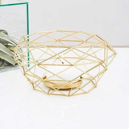 Weddingstar Modern Gold Geometric Metal Table Centerpiece
