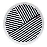 Weddingstar Navy & White Striped Round 100% Cotton Beach Towel