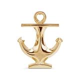 Weddingstar Polished Gold-Colored-Metal Anchor Bottle Opener