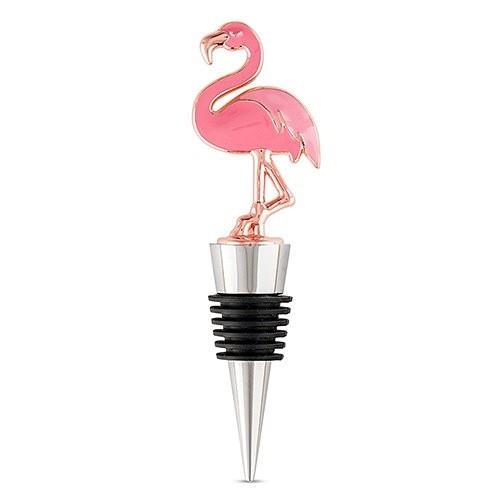 Weddingstar Pink Flamingo-Topped Bottle Stopper
