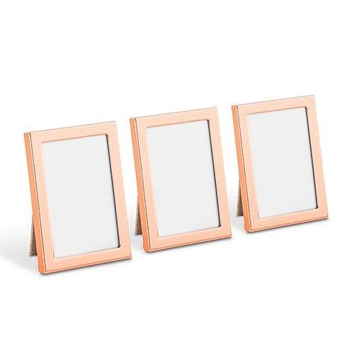 weddingstar mini easel backed rose gold finish photo frames set of 3 - Mini Gold Frames