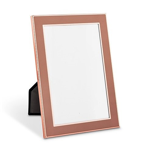 Weddingstar Medium Easel-Backed Rose Gold Finish Picture Frame