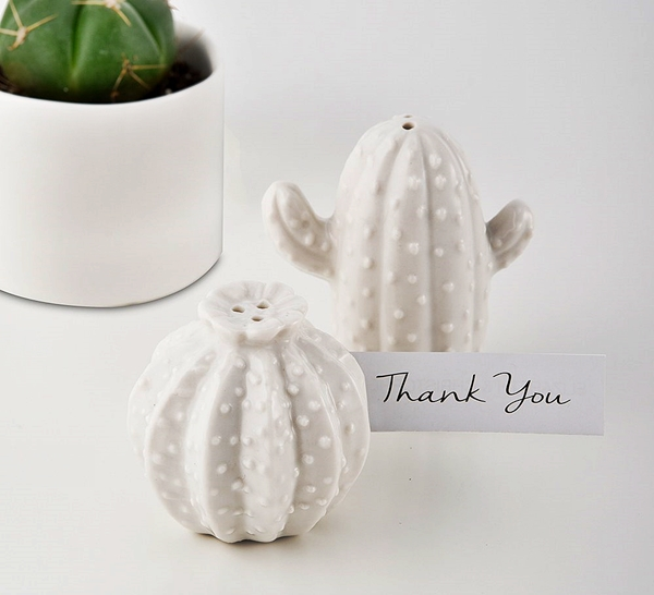 Weddingstar White Porcelain Cactus Salt Pepper Shakers Set Of 2 Personalized Gifts And Party Favors