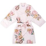 Weddingstar Ladies Blissful Blooms Silky Blush Pink Kimono Robe