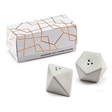Weddingstar White Porcelain Geometric Salt & Pepper Shakers (Set of 2)