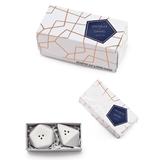 Weddingstar White Porcelain Geometric Salt & Pepper Shakers (Set of 2)