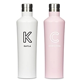 Stainless-Steel Water Bottle - Summer Vibes Monogram (2x2 Colors)