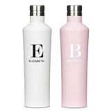 Modern Serif Initial & Name Stainless-Steel Water Bottle (2x2 Colors)