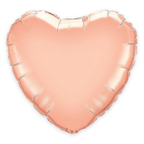 """Weddingstar Jumbo Rose Gold Foil Heart Balloon - 36"""" Large"""
