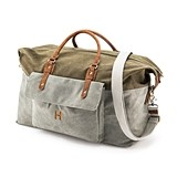Personalizable Canvas & Vegan Leather Weekender Travel Bag