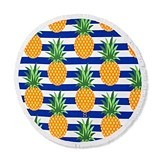 Weddingstar Personalizable Pineapple Motif Round Beach Towel