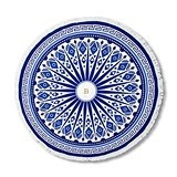 Weddingstar Personalizable Tribal Print Round Beach Towel