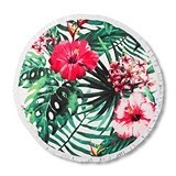Weddingstar Personalizable Tropical Hibiscus Motif Round Beach Towel