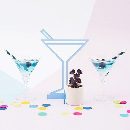 Weddingstar Acrylic Pastel Blue Tropical Martini Tabletop Decoration