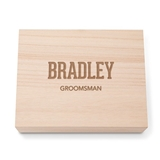Collegiate Etching Personalized Wooden Keepsake Box with Hinged Lid