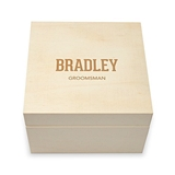 Weddingstar Collegiate Etching Personalized Wooden Keepsake Gift Box