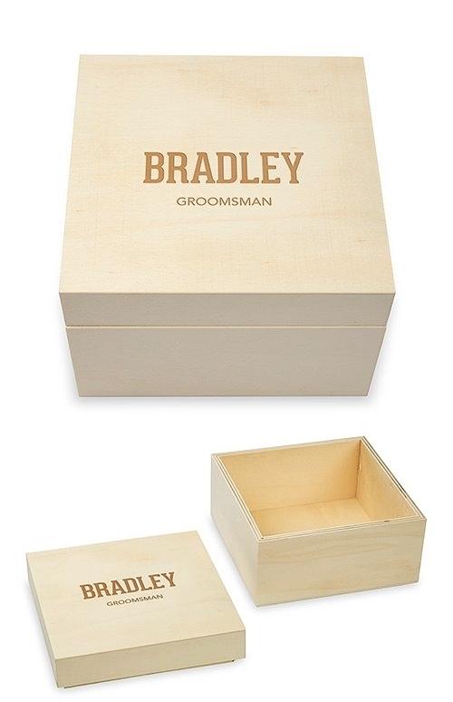 Weddingstar Collegiate Etching Personalized Wooden Keepsake Gift Box