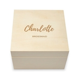 Weddingstar Bold Script Etching Personalized Wooden Keepsake Gift Box