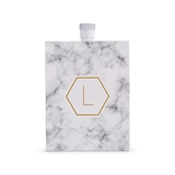Weddingstar Personalized White Stainless Steel 3 oz. Hip Flask - Geo Marble
