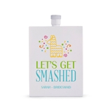 Personalized White Stainless Steel 3 oz. Hip Flask - Let's Get Smashed