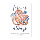 Forever & Always Rose Gold Ampersand Bottle Opener with Custom Backer