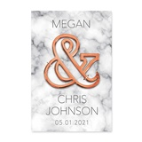 Geo Marble Rose Gold Ampersand Bottle Opener with Personalized Backer