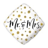 Gold Polka-Dot Mr. and Mrs. Mylar Foil Helium Party Balloon Decoration