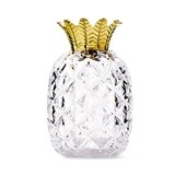 Small Clear Plastic Pineapple with Golden Top Favor Container