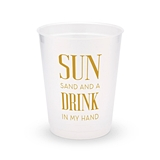 Personalized Frosted Plastic Party Cups - Drink In My Hand (Set of 8)