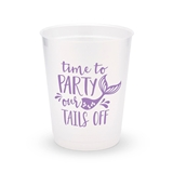 Personalized Frosted Plastic Party Cups - Party Our Tails Off (8)