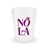 Personalized Frosted Plastic Party Cups - NOLA (Set of 8)