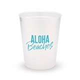 Personalized Frosted Plastic Party Cups - Aloha Beaches (Set of 8)