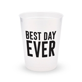 Personalized Frosted Plastic Party Cups - Best Day Ever (Set of 8)