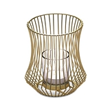 Weddingstar Small Gold-Metal Geo Wire Tea Light Candle Holder