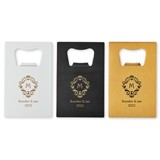 Personalized Metal Credit Card Bottle Opener (3 Colors) (Many Designs)
