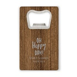 Personalized Wood Veneer Credit Card Bottle Opener (Numerous Designs)