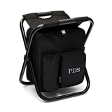 Personalized Monogram Embroidered Black Folding Cooler Chair Backpack