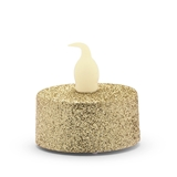 Weddingstar Flameless LED Tealight Candles - Gold Glitter (Set of 4)