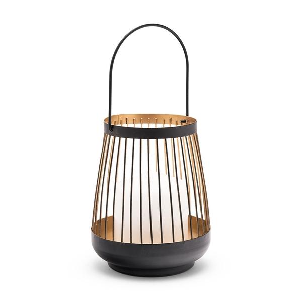 Weddingstar Large Geometric Metal Wire Hanging Lantern - Black & Gold