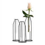 Weddingstar Geometric Tiered Test Tube Flower Vases (Set of 3)