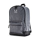 "Personalized Heathered Black Backpack with 15"" Laptop Sleeve"