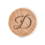 Custom Engraved Wooden Bottle Stopper with Decorative Initial Monogram