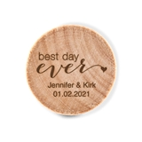 Custom Engraved Wooden Bottle Stopper with Best Day Ever Design