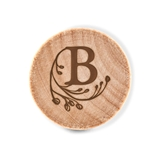 Custom Engraved Wooden Bottle Stopper with Modern Fairy Tale Monogram