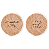 Custom Engraved Wooden Bottle Stopper with Couple's Names (2 Designs)