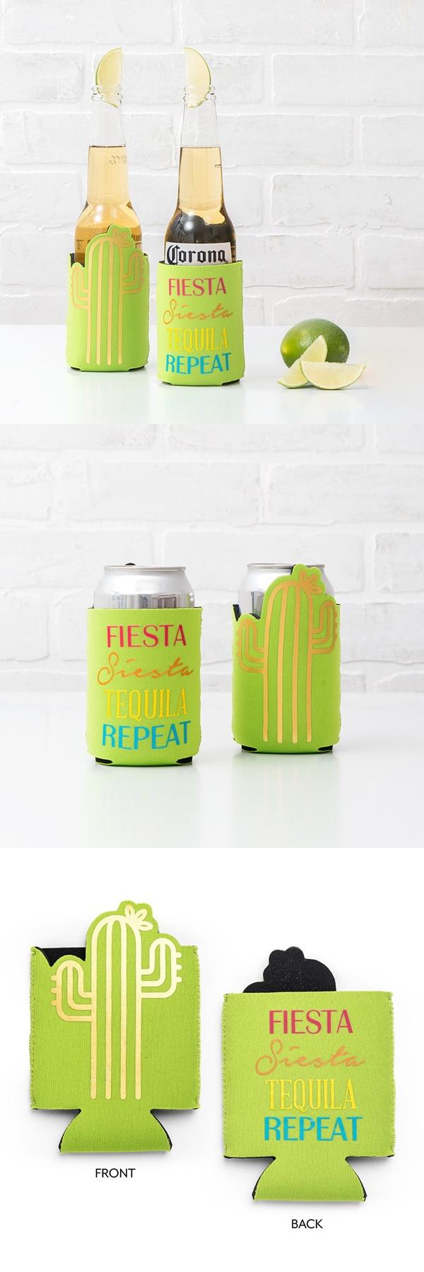 """Fiesta Siesta Tequila"" Cactus Design Neoprene Drink Holder"